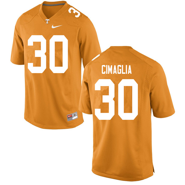 Men #30 Brent Cimaglia Tennessee Volunteers College Football Jerseys Sale-Orange