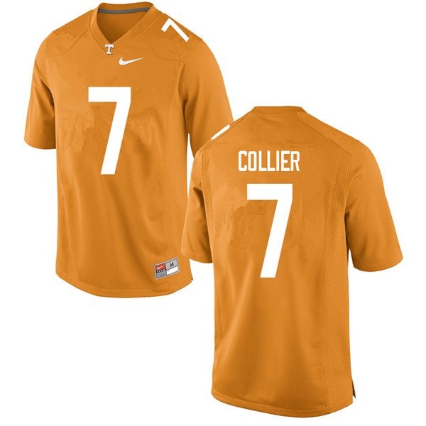 Men #7 Bryce Collier Tennessee Volunteers College Football Jerseys Sale-Orange