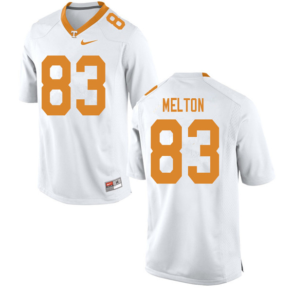 Men #83 Cooper Melton Tennessee Volunteers College Football Jerseys Sale-White