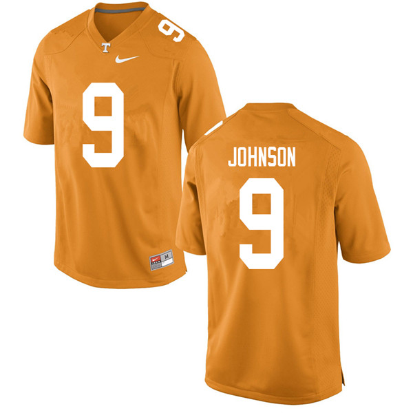 Men #9 Garrett Johnson Tennessee Volunteers College Football Jerseys Sale-Orange