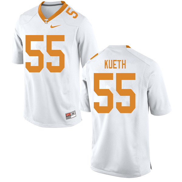 Men #55 Gatkek Kueth Tennessee Volunteers College Football Jerseys Sale-White