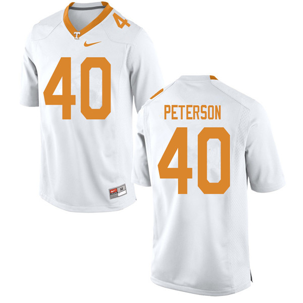 Men #40 JJ Peterson Tennessee Volunteers College Football Jerseys Sale-White