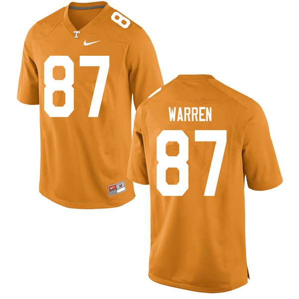 Men #87 Jacob Warren Tennessee Volunteers College Football Jerseys Sale-Orange