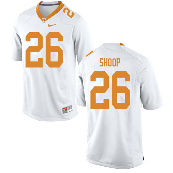 Men #26 Jay Shoop Tennessee Volunteers College Football Jerseys Sale-White