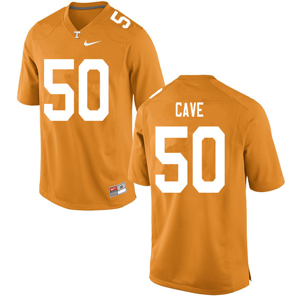 Men #50 Joey Cave Tennessee Volunteers College Football Jerseys Sale-Orange