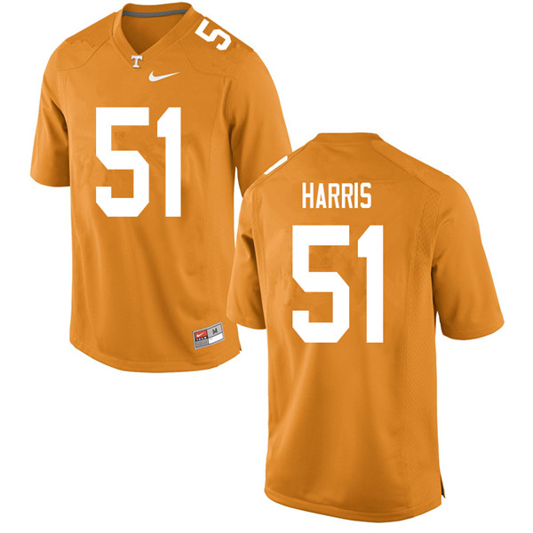 Men #51 Kingston Harris Tennessee Volunteers College Football Jerseys Sale-Orange