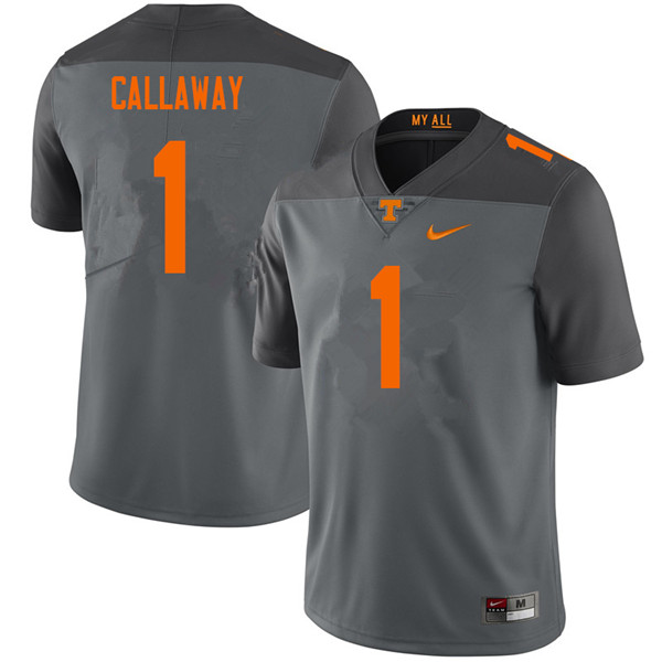 Men #1 Marquez Callaway Tennessee Volunteers College Football Jerseys Sale-Gray