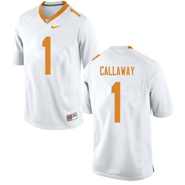 Men #1 Marquez Callaway Tennessee Volunteers College Football Jerseys Sale-White