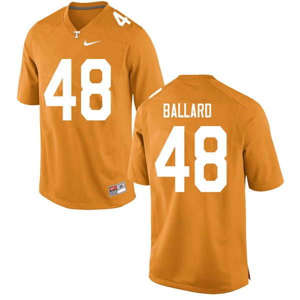 Men #48 Matt Ballard Tennessee Volunteers College Football Jerseys Sale-Orange