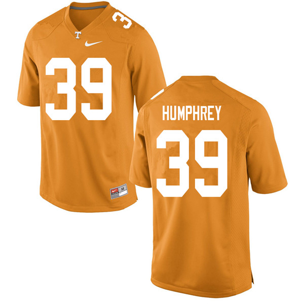 Men #39 Nick Humphrey Tennessee Volunteers College Football Jerseys Sale-Orange