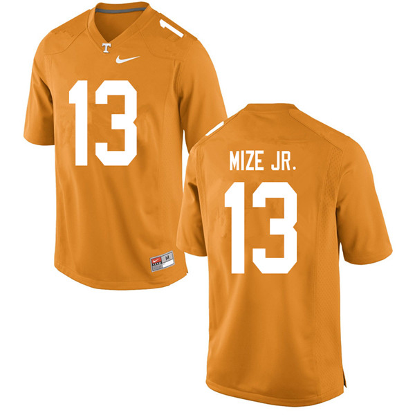 Men #13 Richard Mize Jr. Tennessee Volunteers College Football Jerseys Sale-Orange