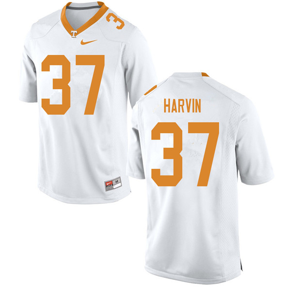 Men #37 Sam Harvin Tennessee Volunteers College Football Jerseys Sale-White