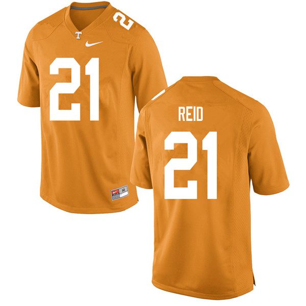 Men #21 Shanon Reid Tennessee Volunteers College Football Jerseys Sale-Orange