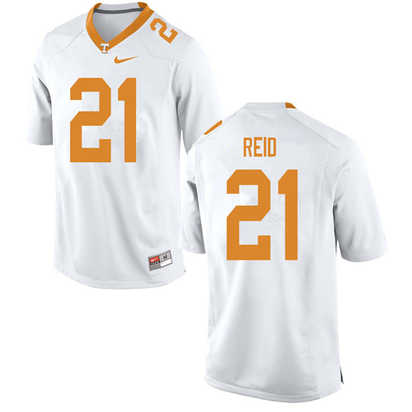 Men #21 Shanon Reid Tennessee Volunteers College Football Jerseys Sale-White