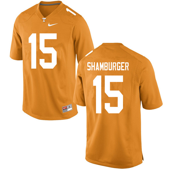 Men #15 Shawn Shamburger Tennessee Volunteers College Football Jerseys Sale-Orange