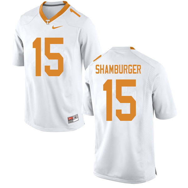 Men #15 Shawn Shamburger Tennessee Volunteers College Football Jerseys Sale-White