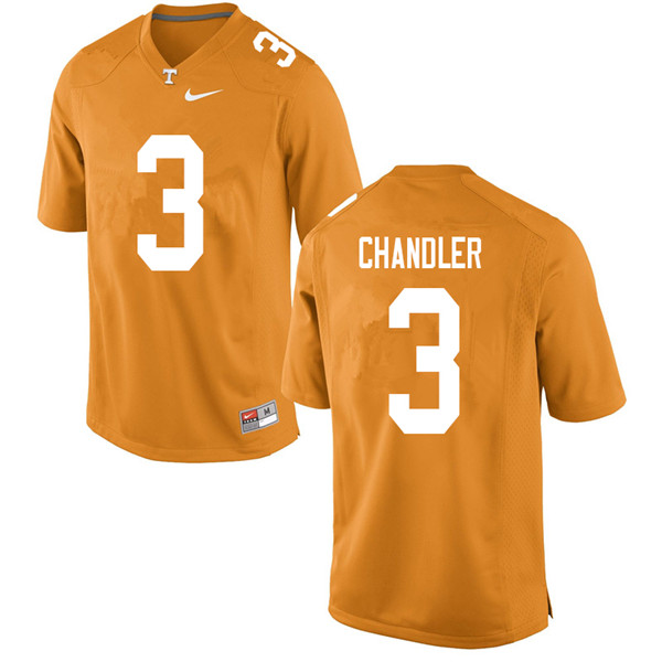 Men #3 Ty Chandler Tennessee Volunteers College Football Jerseys Sale-Orange