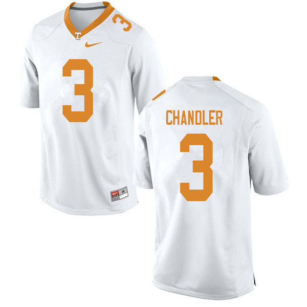 Men #3 Ty Chandler Tennessee Volunteers College Football Jerseys Sale-White