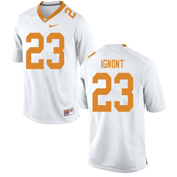 Men #23 Will Ignont Tennessee Volunteers College Football Jerseys Sale-White