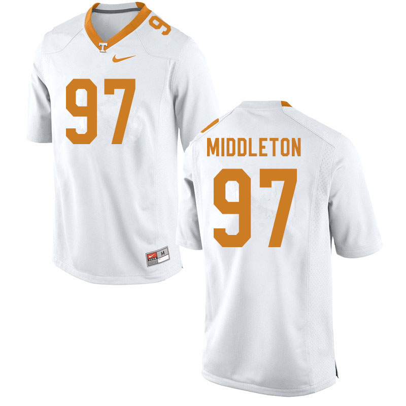 Men #97 Darel Middleton Tennessee Volunteers College Football Jerseys Sale-White