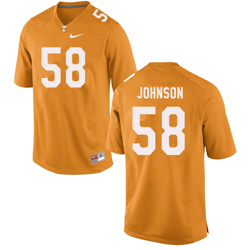 Men #58 Jahmir Johnson Tennessee Volunteers College Football Jerseys Sale-Orange