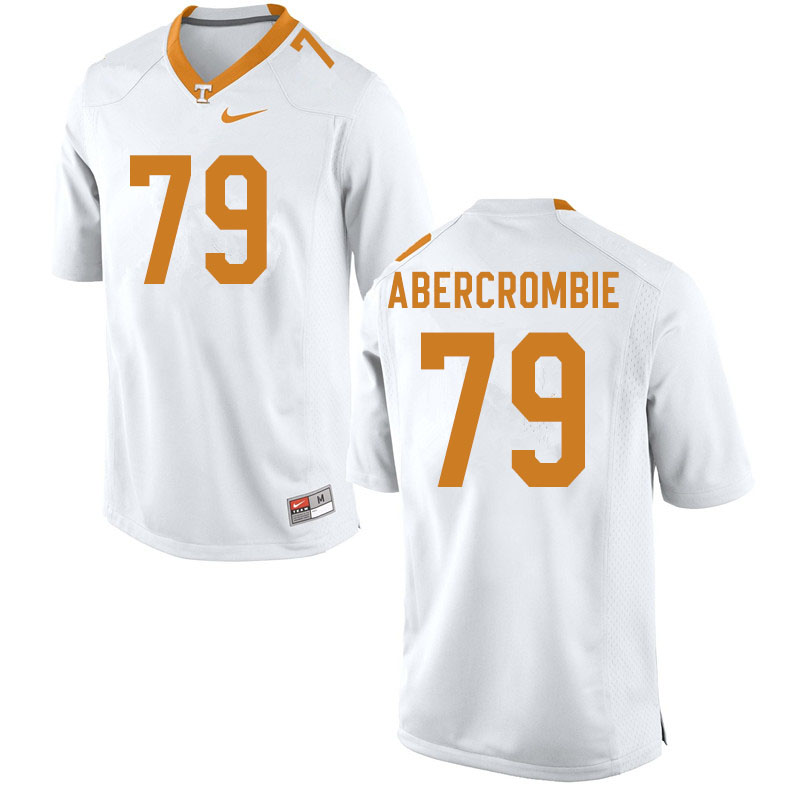 Men #79 Jarious Abercrombie Tennessee Volunteers College Football Jerseys Sale-White