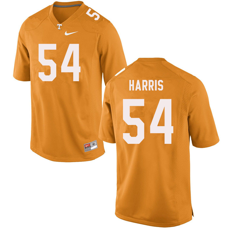 Men #54 Kingston Harris Tennessee Volunteers College Football Jerseys Sale-Orange