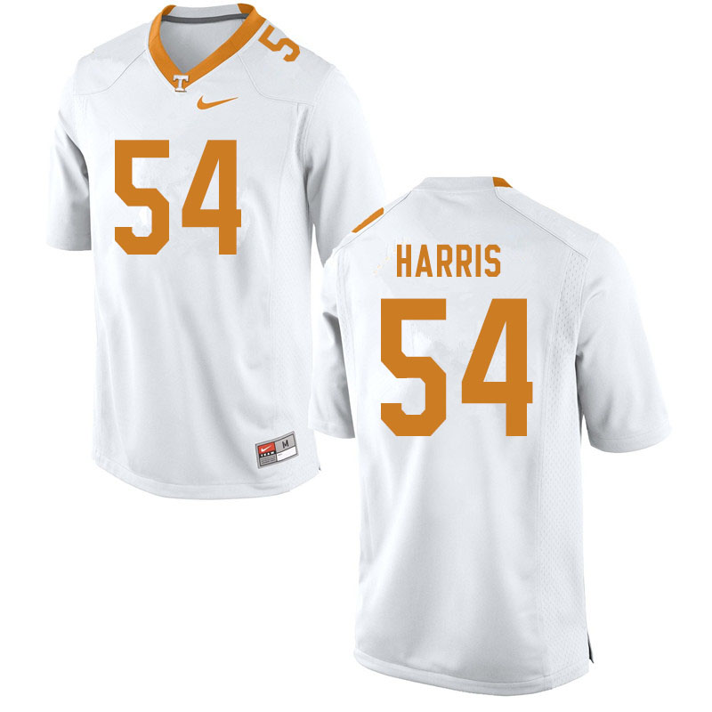 Men #54 Kingston Harris Tennessee Volunteers College Football Jerseys Sale-White