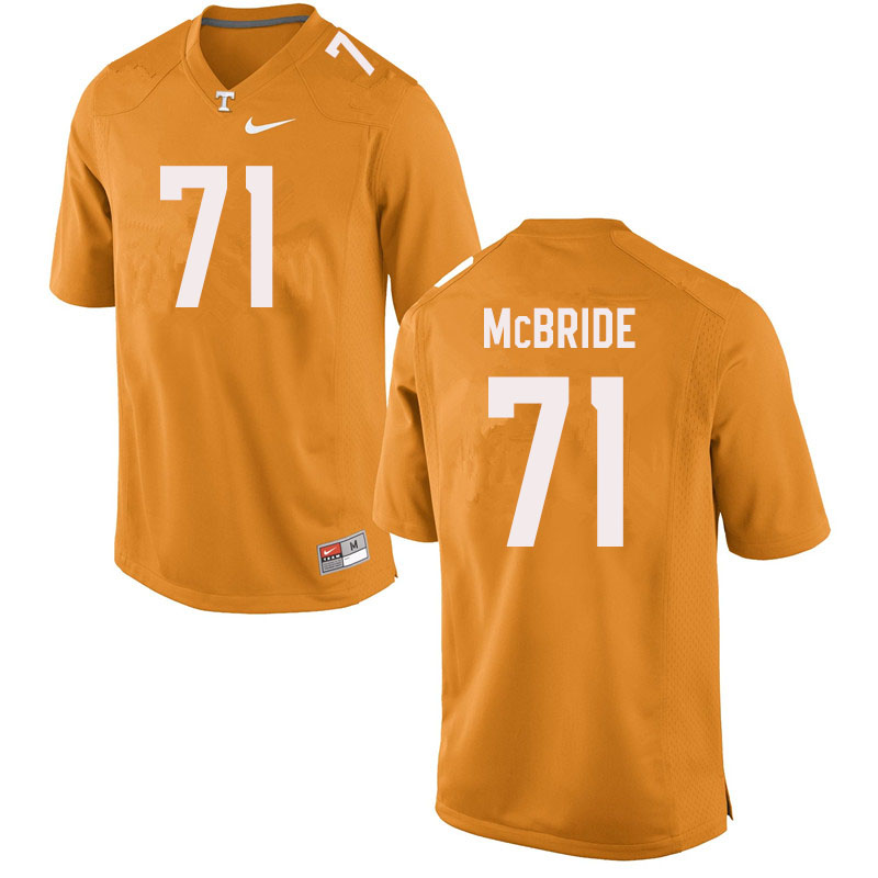 Men #71 Melvin McBride Tennessee Volunteers College Football Jerseys Sale-Orange