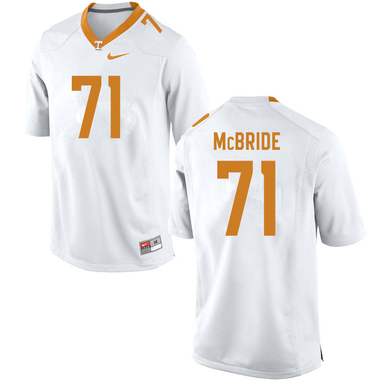Men #71 Melvin McBride Tennessee Volunteers College Football Jerseys Sale-White