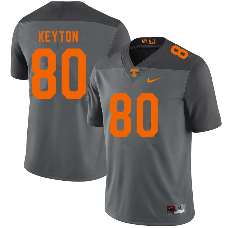 Men #80 Ramel Keyton Tennessee Volunteers College Football Jerseys Sale-Gray