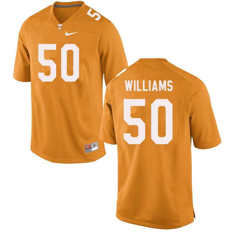 Men #50 Savion Williams Tennessee Volunteers College Football Jerseys Sale-Orange