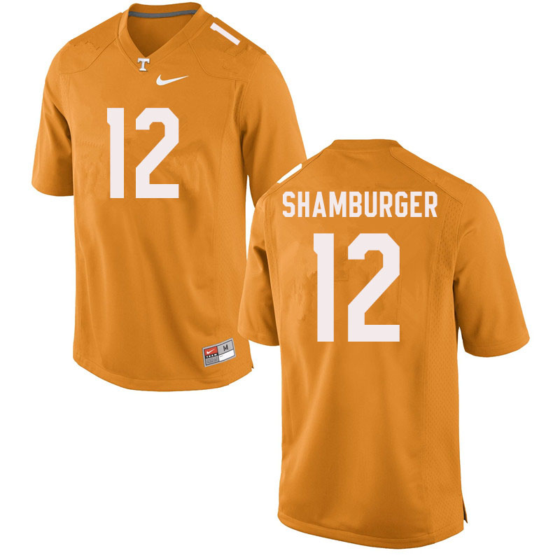 Men #12 Shawn Shamburger Tennessee Volunteers College Football Jerseys Sale-Orange
