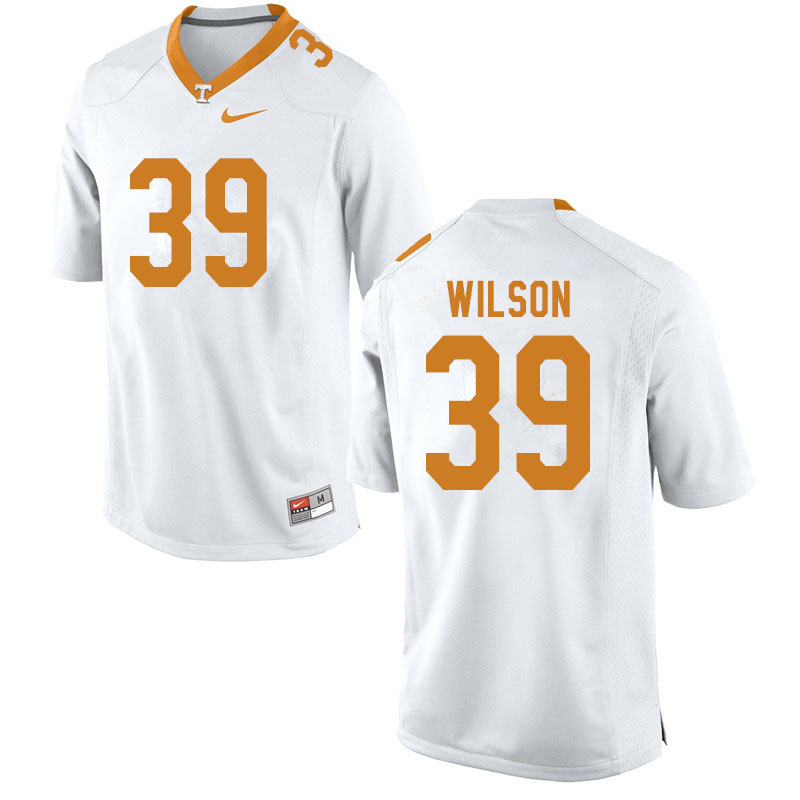 Men #39 Toby Wilson Tennessee Volunteers College Football Jerseys Sale-White