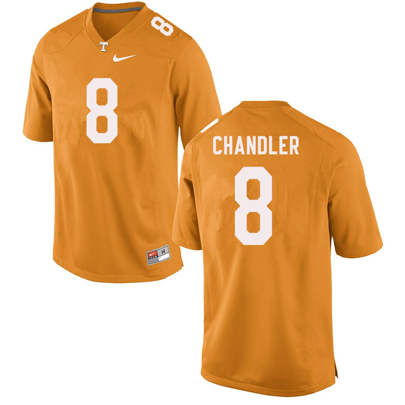 Men #8 Ty Chandler Tennessee Volunteers College Football Jerseys Sale-Orange