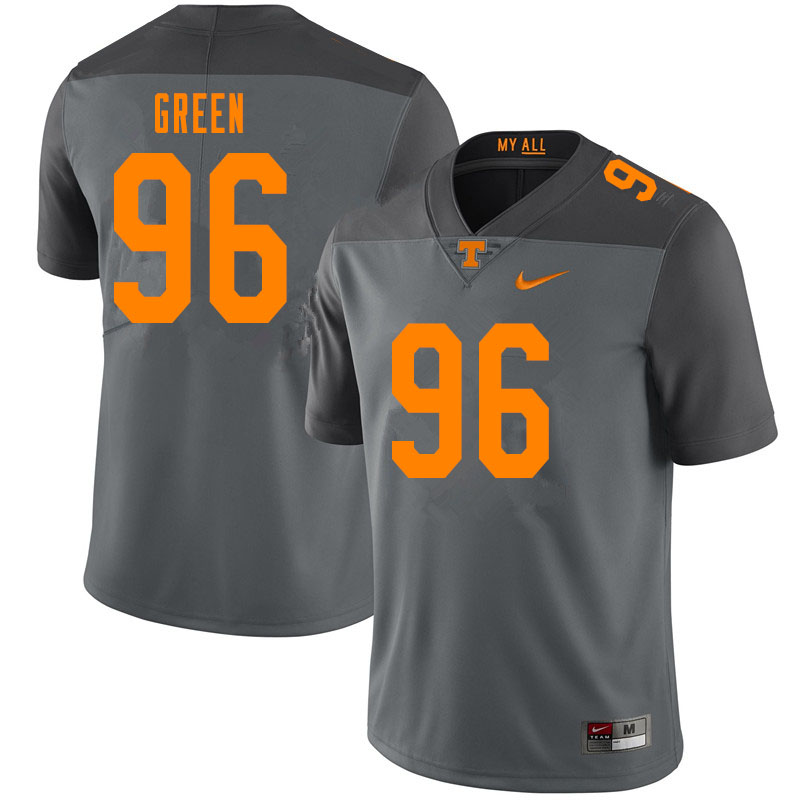 Men #96 Isaac Green Tennessee Volunteers College Football Jerseys Sale-Gray