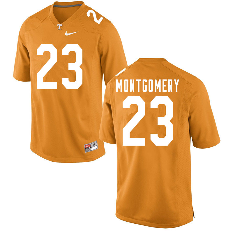 Men #23 Isaiah Montgomery Tennessee Volunteers College Football Jerseys Sale-Orange