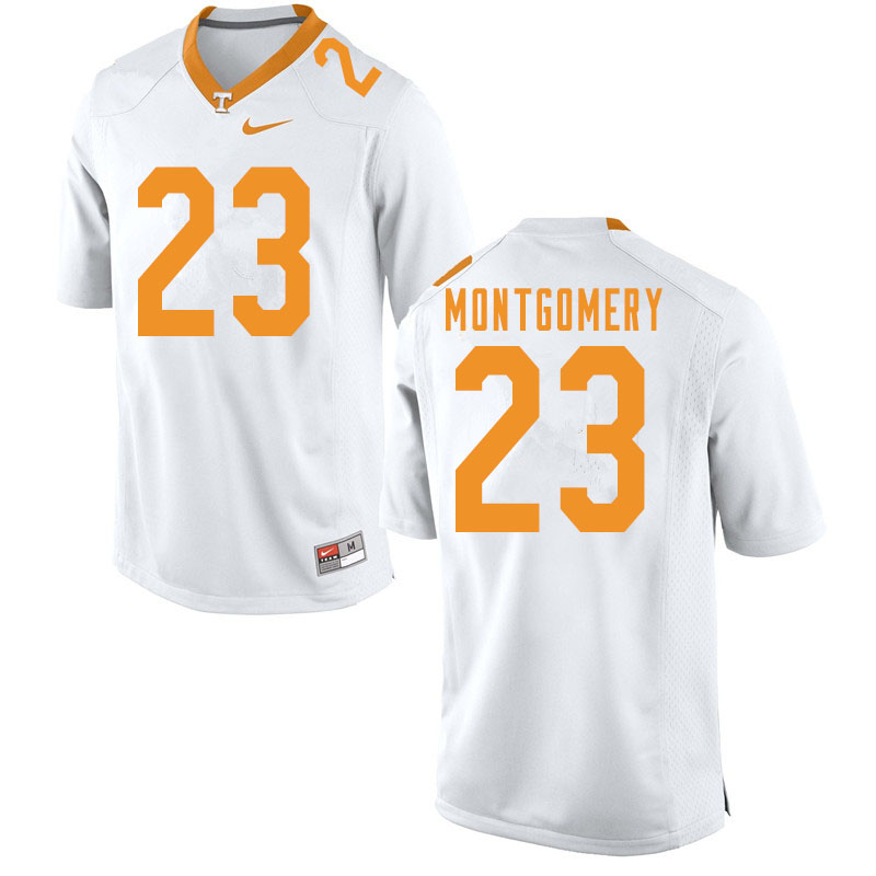 Men #23 Isaiah Montgomery Tennessee Volunteers College Football Jerseys Sale-White