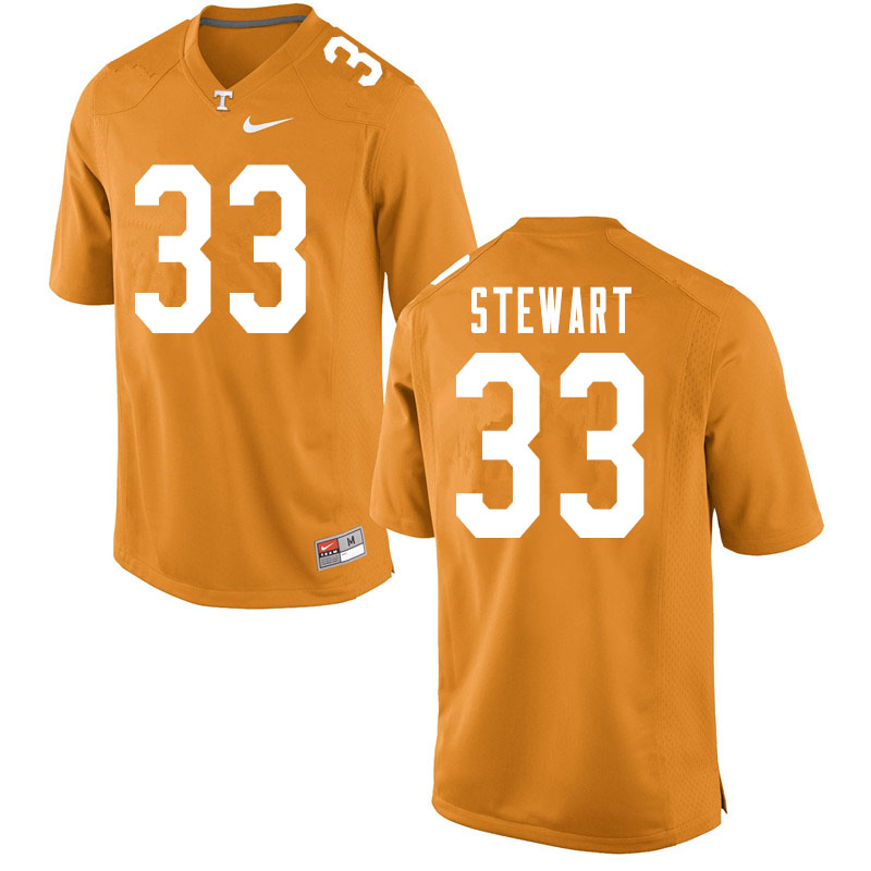 Men #33 Tyrik Stewart Tennessee Volunteers College Football Jerseys Sale-Orange