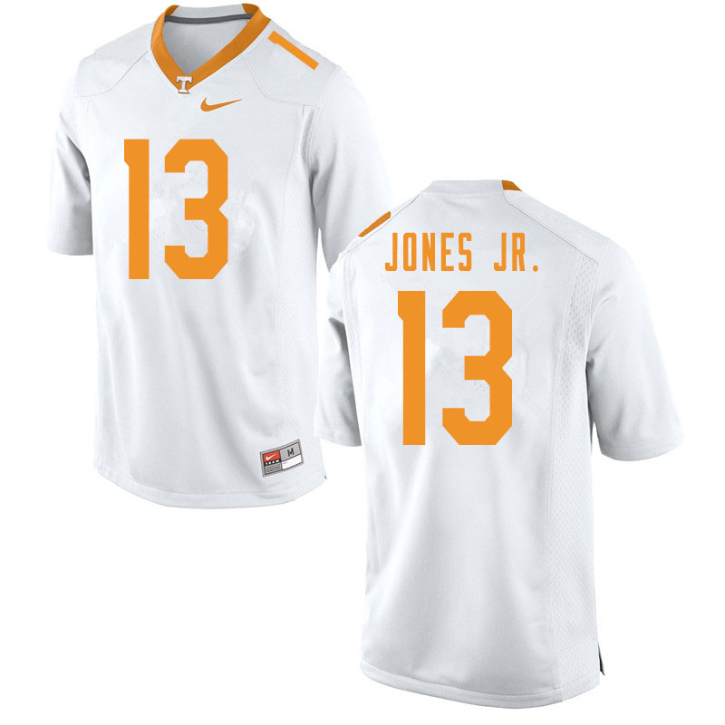 Men #13 Velus Jones Jr. Tennessee Volunteers College Football Jerseys Sale-White