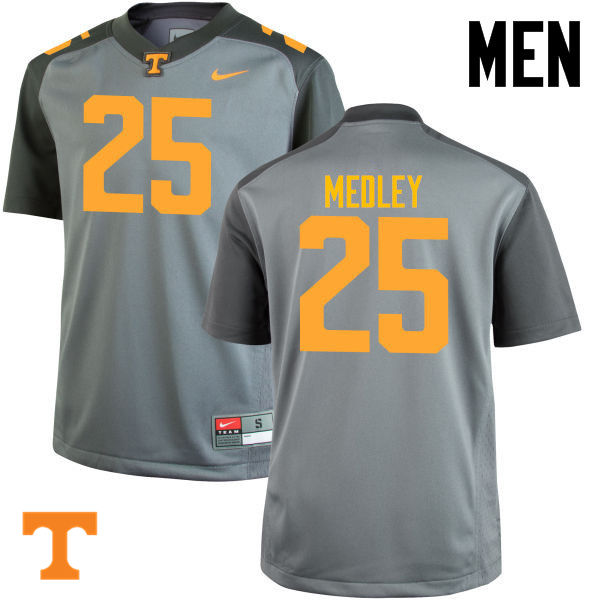 Men #25 Aaron Medley Tennessee Volunteers College Football Jerseys-Gray