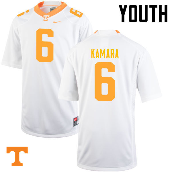 Youth #6 Alvin Kamara Tennessee Volunteers College Football Jerseys-White