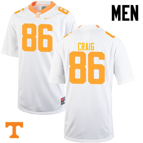 Men #86 Andrew Craig Tennessee Volunteers College Football Jerseys-White