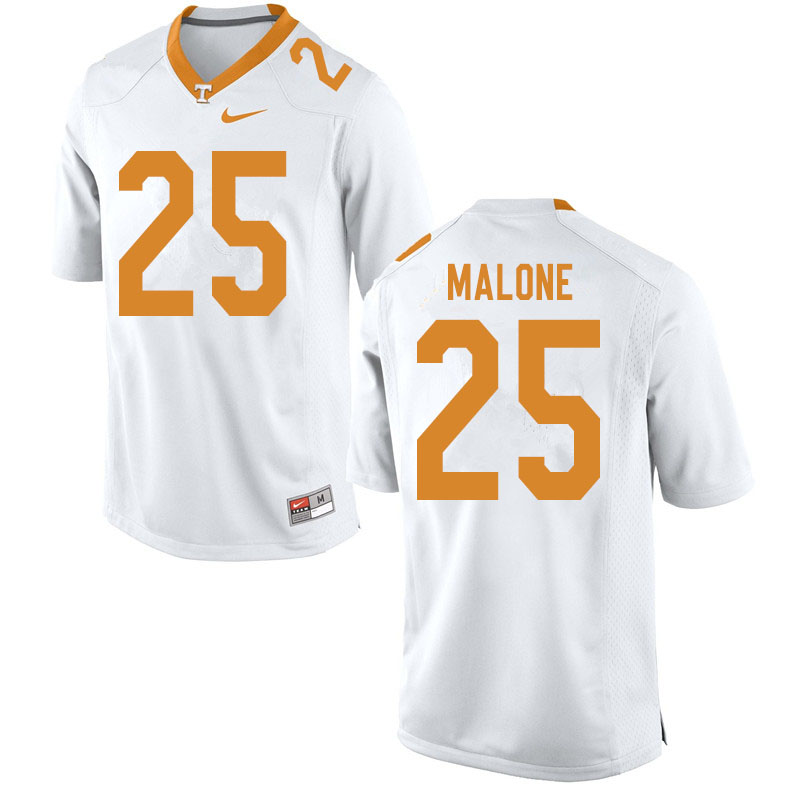 Men #25 Antonio Malone Tennessee Volunteers College Football Jerseys Sale-White