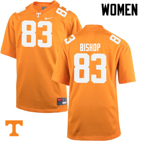 Women #83 BJ Bishop Tennessee Volunteers College Football Jerseys-Orange