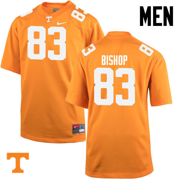 Men #83 BJ Bishop Tennessee Volunteers College Football Jerseys-Orange