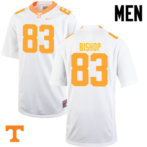 Men #83 BJ Bishop Tennessee Volunteers College Football Jerseys-White