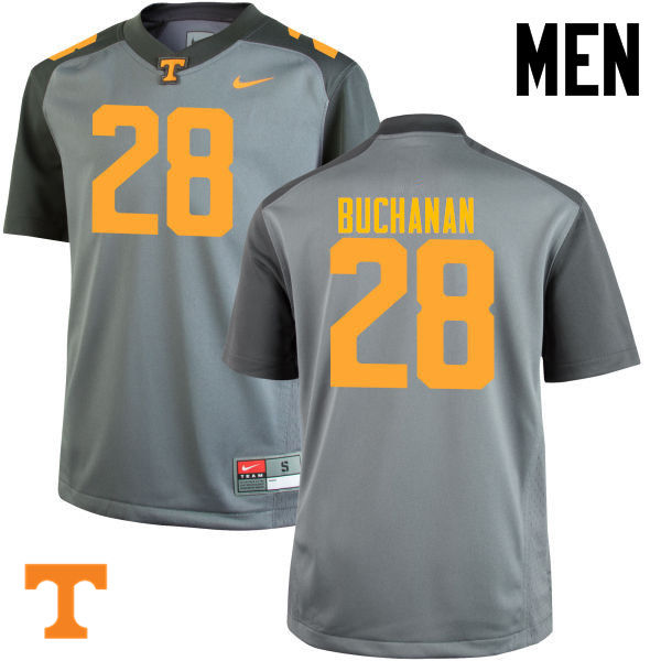 Men #28 Baylen Buchanan Tennessee Volunteers College Football Jerseys-Gray