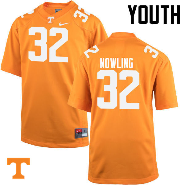 Youth #32 Billy Nowling Tennessee Volunteers College Football Jerseys-Orange