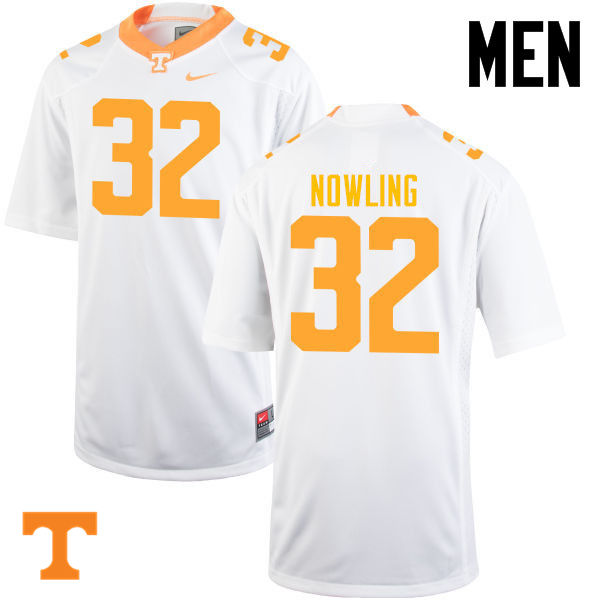 Men #32 Billy Nowling Tennessee Volunteers College Football Jerseys-White